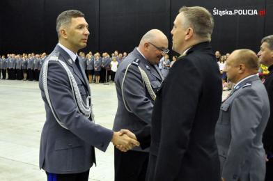 Rudzcy mundurowi odznaczeni w czasie wojewódzkich obchodów święta policji