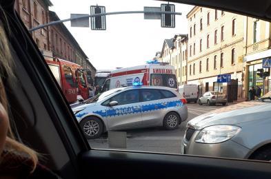 Wypadek na skrzyżowaniu w Nowym Bytomiu