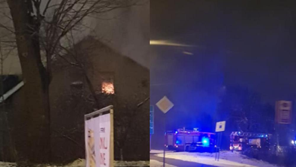 Pożar pustostanu na Kazimierza