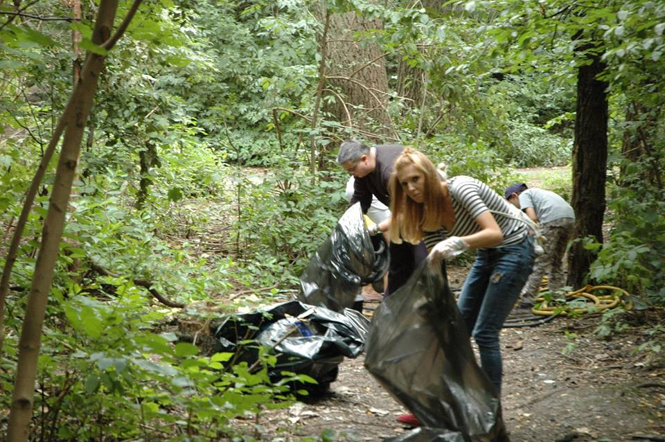 Sprzątali Lasek Boloński