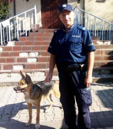 Policjanci odzyskali psa i zatrzymali złodzieja