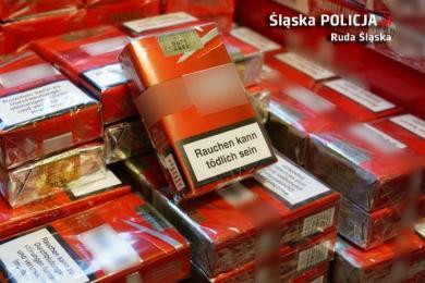 Sprzedawała lewe papierosy. Policjanci znaleźli kilka tysięcy papierosów bez akcyzy