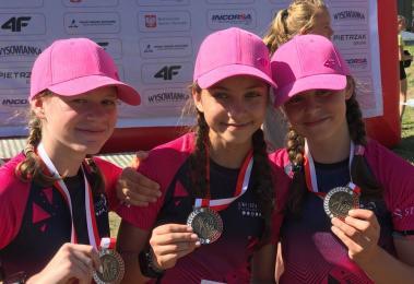 Młoda biathlonistka - Oliwia Suchy może pochwalić się kolejnym sukcesem