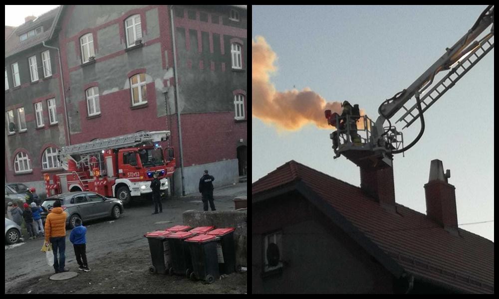Ruda Śląska: W jednym z budynków przy ul. Tiałowskiego doszło do pożaru sadzy w kominie