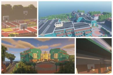 Uczniowie przenieśli do świata Minecrafta budynek III LO!