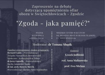 Debata dotycząca upamiętnienia ofiar obozu w Świętochłowicach - Zgodzie