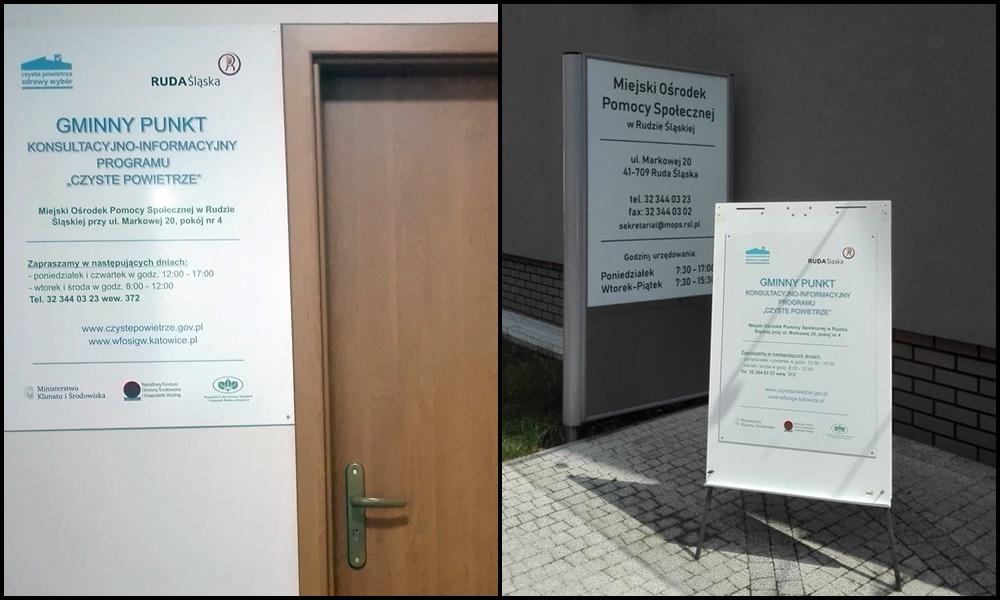 """Punkt informacyjny w ramach Programu """"Czyste Powietrze"""" w Rudzie Śląskiej już działa!"""