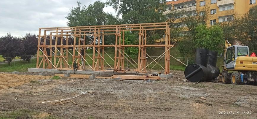 Postępy w budowie tężni solankowej na Bykowinie. Kiedy zostanie oddana do użytku?
