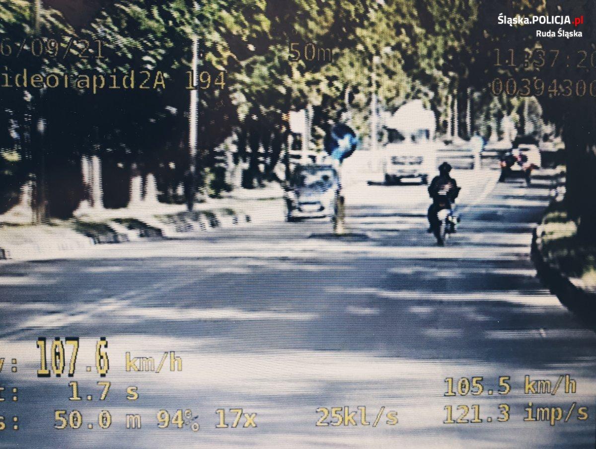 Motocyklista pędził ponad 100 km/h ulicą K. Goduli! Rajd zakończyła grupa SPEED